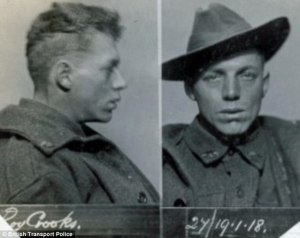 Private Roy Crooks, of the 2nd Battalion Australian Forces, stole a suitcase from Edinburgh Waverley station in January 1918 and was fined £7 or 30 days imprisonment