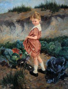 Peske_Little_Girl_in_red_Dress