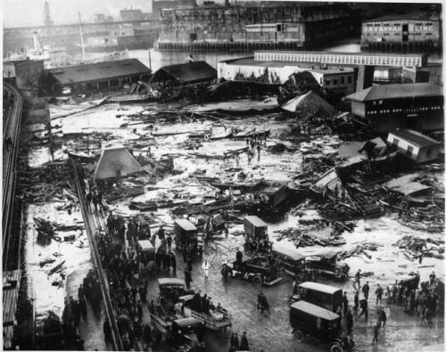 The devastation wrought by the Great Molasses Flood